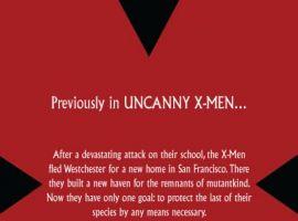 UNCANNY X-MEN #501 recap page