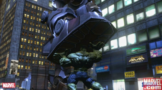 Hulk vs. a giant robot