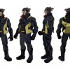 Final color art for Wolverine from the X-Men Anime series