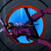 Hawkeye readies his bow in The Avengers: Earth's Mightiest Heroes!