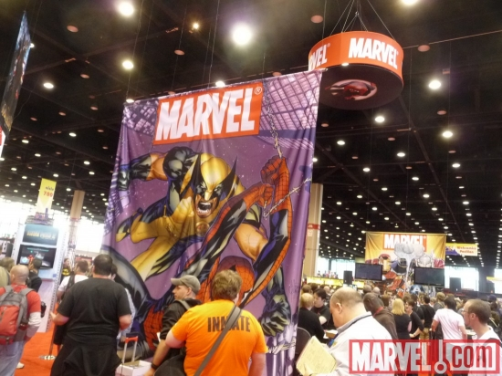 Wolverine and Spider-Man Banner at C2E2 2010