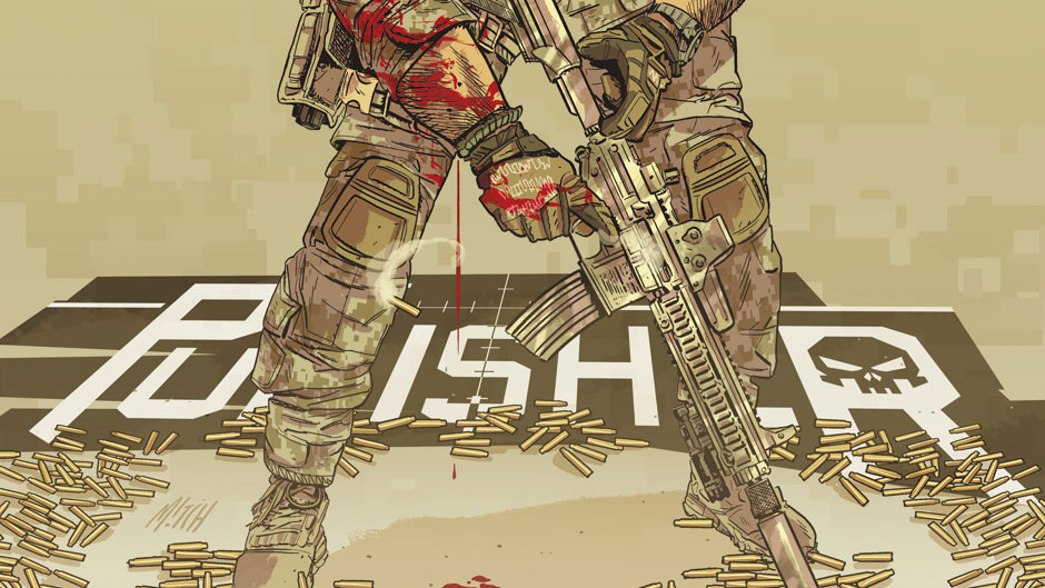 The Punisher #19 cover by Mitch Gerads
