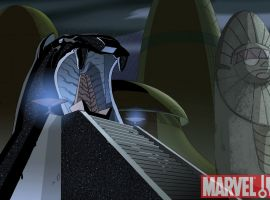 Background art of Wakanda from 'The Avengers: Earth's Mightiest Heroes!'