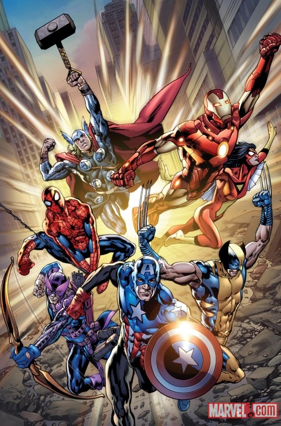 Avengers #12.1 cover art by Bryan Hitch