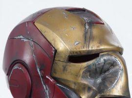 Crushed Mark III Iron Man helmet movie prop