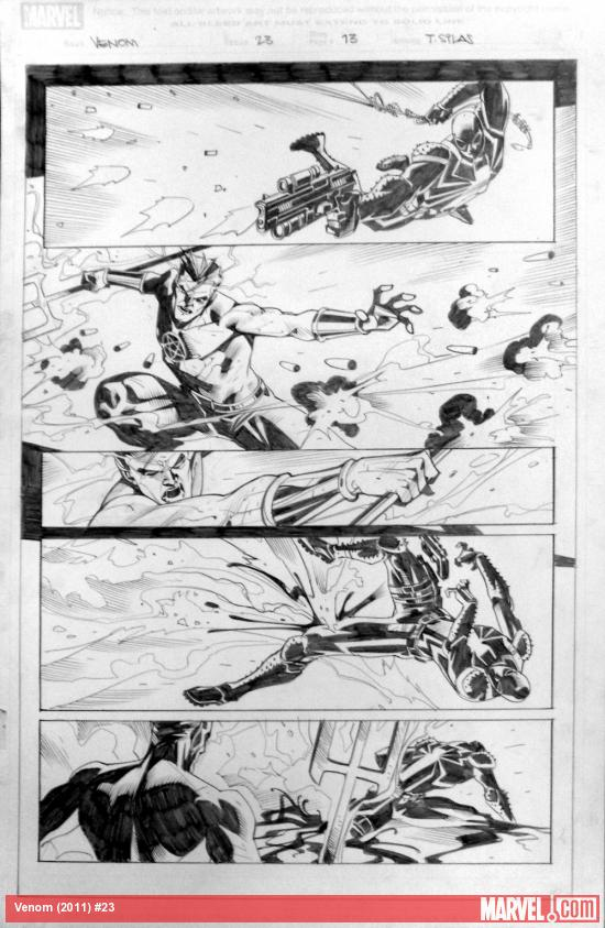 Venom #23 preview inks by Thony Silas