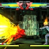 "Screenshot of Strider vs. Ghost Rider in ""Ultimate Marvel vs. Capcom 3"""