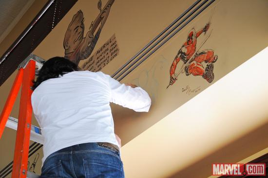 SDCC 2012: Ultimate Spider-Man Artist David Marquez at the Palm in San Diego