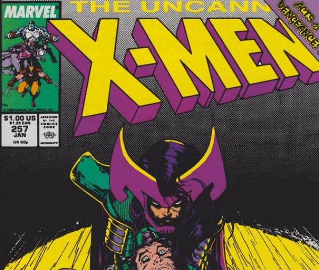 Uncanny X-Men #257 cover by Jim Lee