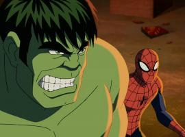 The Hulk and Spider-Man in Ultimate Spider-Man