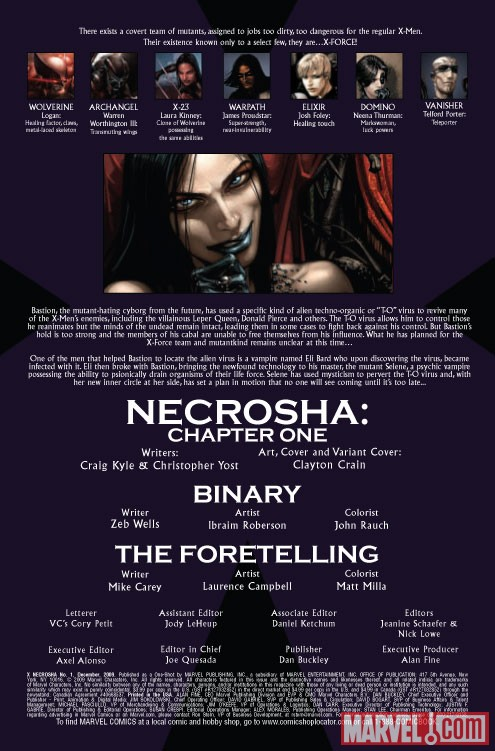 X Necrosha One-Shot (2009) #1