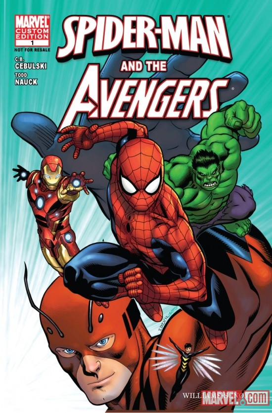 Spider-Man and the Avengers #1 cover by Ed McGuinness