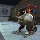 Rhino rears, Spidey clings on