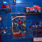 Spider-Man figures on display at the Hasbro Showroom