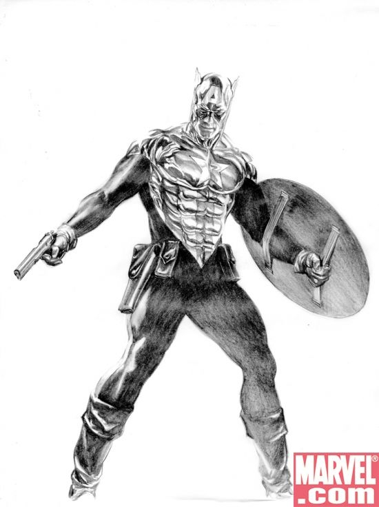 New Captain America design by Alex Ross