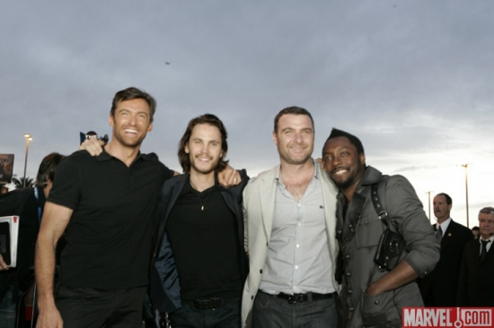 Hugh Jackman, Taylor Kitsch, Liev Schreiber and Will.i.am at the ''X-Men Origins: Wolverine'' movie premiere in Tempe, Ariz.