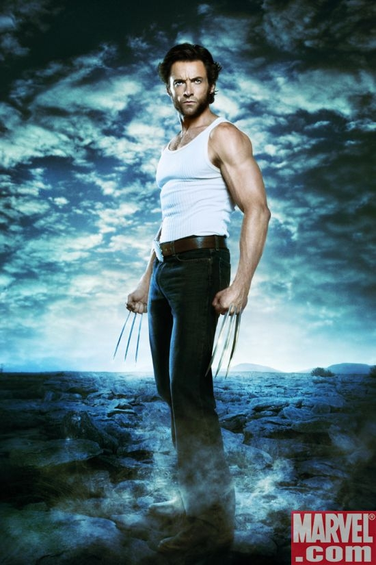 Hugh Jackman strikes a pose as Wolverine