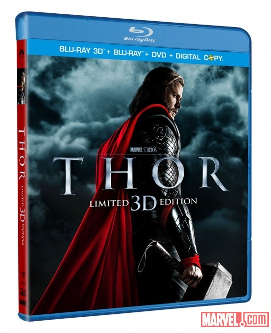 Thor Blu-ray 3D Three-Disc Combo Pack box art