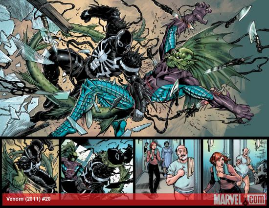 Venom #20 preview art by Lan Medina