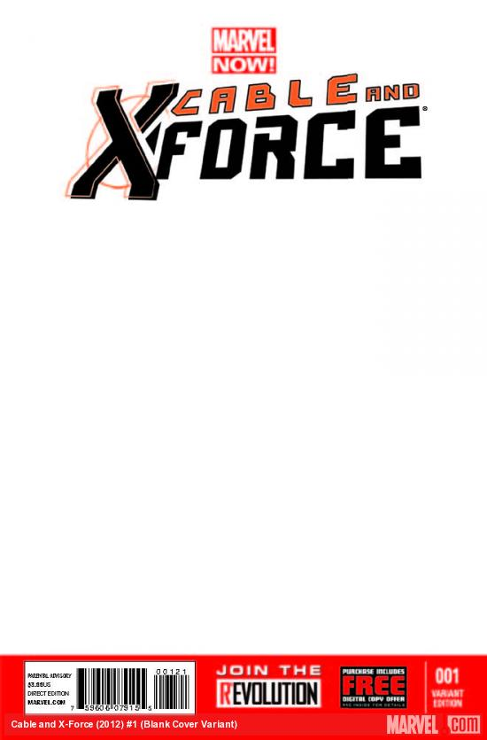 CABLE AND X-FORCE 1 BLANK COVER VARIANT