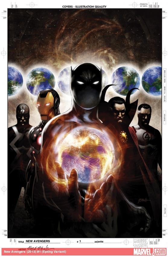 New Avengers (2013) #1 variant cover by Steve Epting