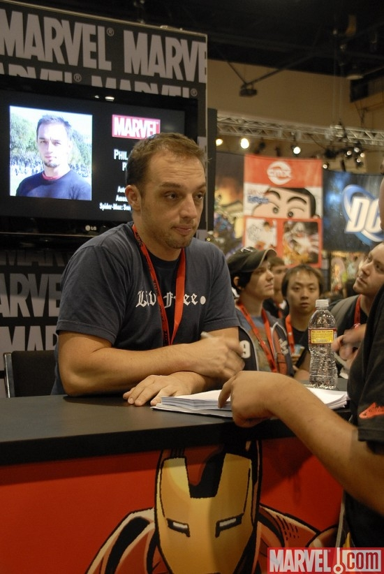 Artist Phil Jimenez at the Marvel Booth