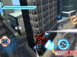 Iron Man soars in the Iron Man 2 iPhone game