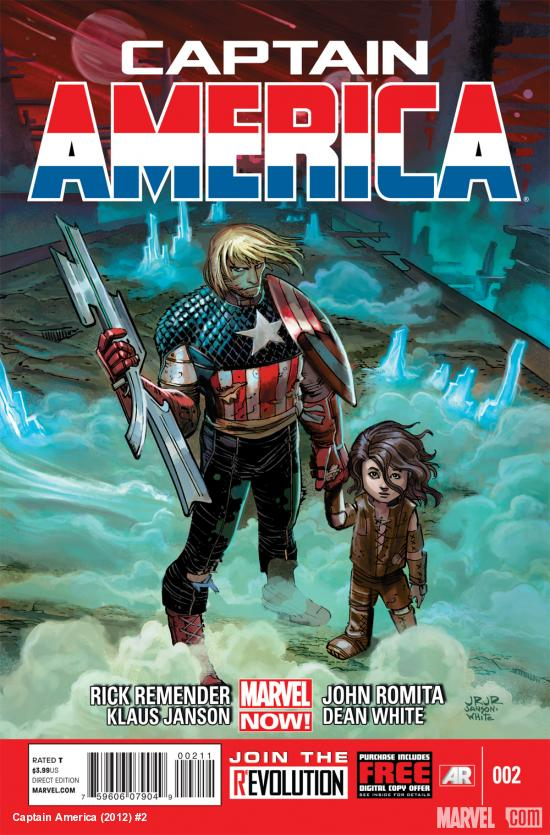 Captain America (2012) #2 cover by John Romita Jr., Klaus Janson &amp; Dean White