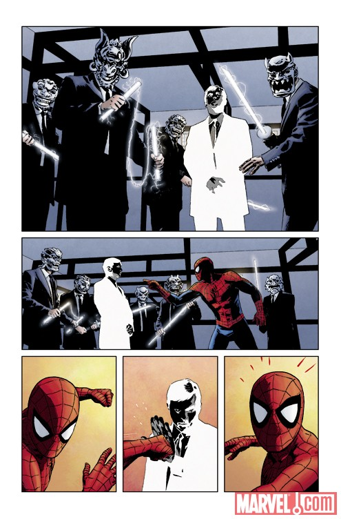 AMAZING SPIDER-MAN #621 art by Michael Lark