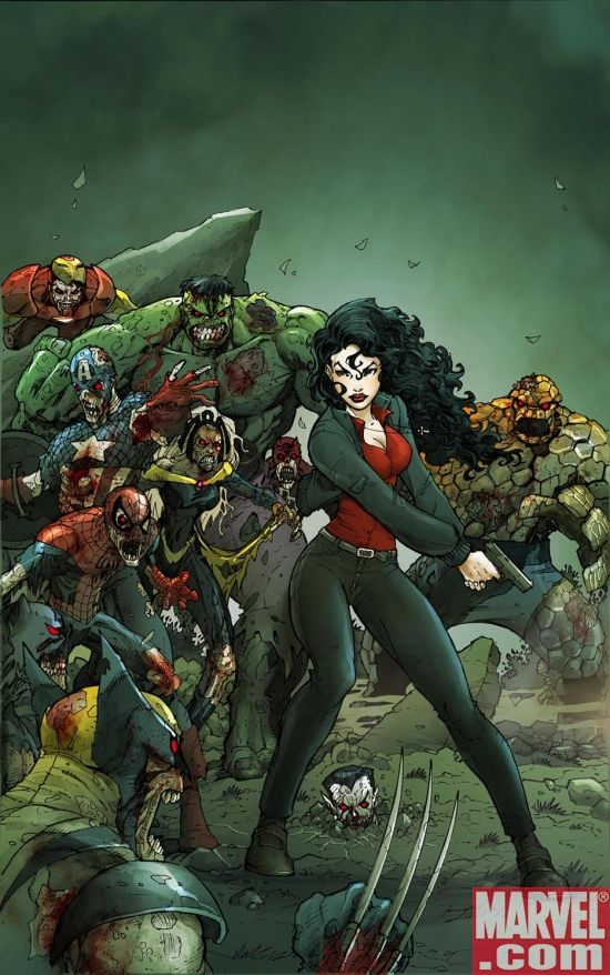 Ron Lim's Zombie variant cover to Laurell K. Hamilton's Anita Blake: The First Death #2