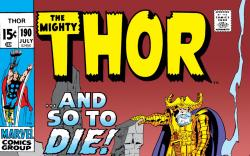 Thor (1966) #190 Cover
