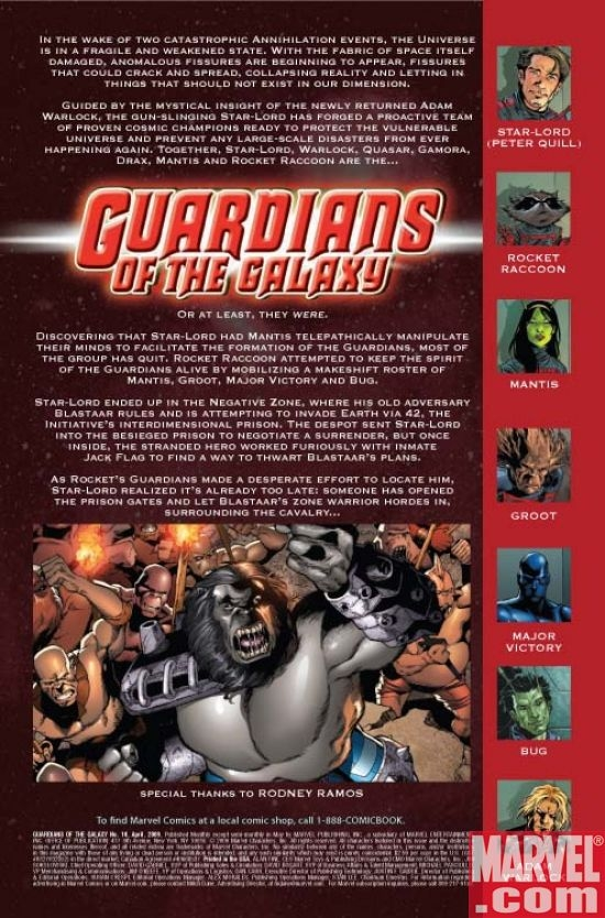 GUARDIANS OF THE GALAXY #10 Preview page 1