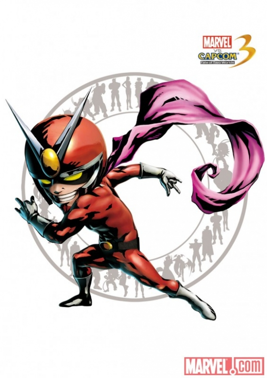 Viewtiful Joe Character Art from Marvel vs. Capcom 3