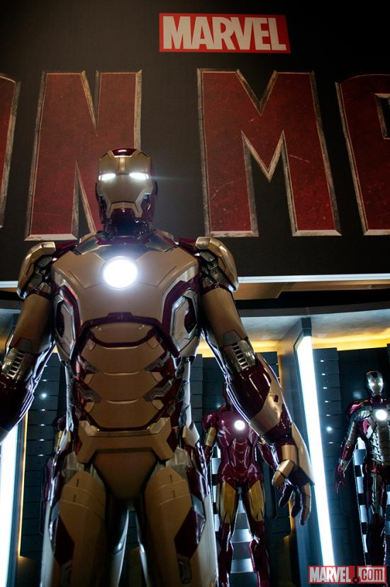 Iron Man's new armor from Iron Man 3 at San Diego Comic-Con 2012