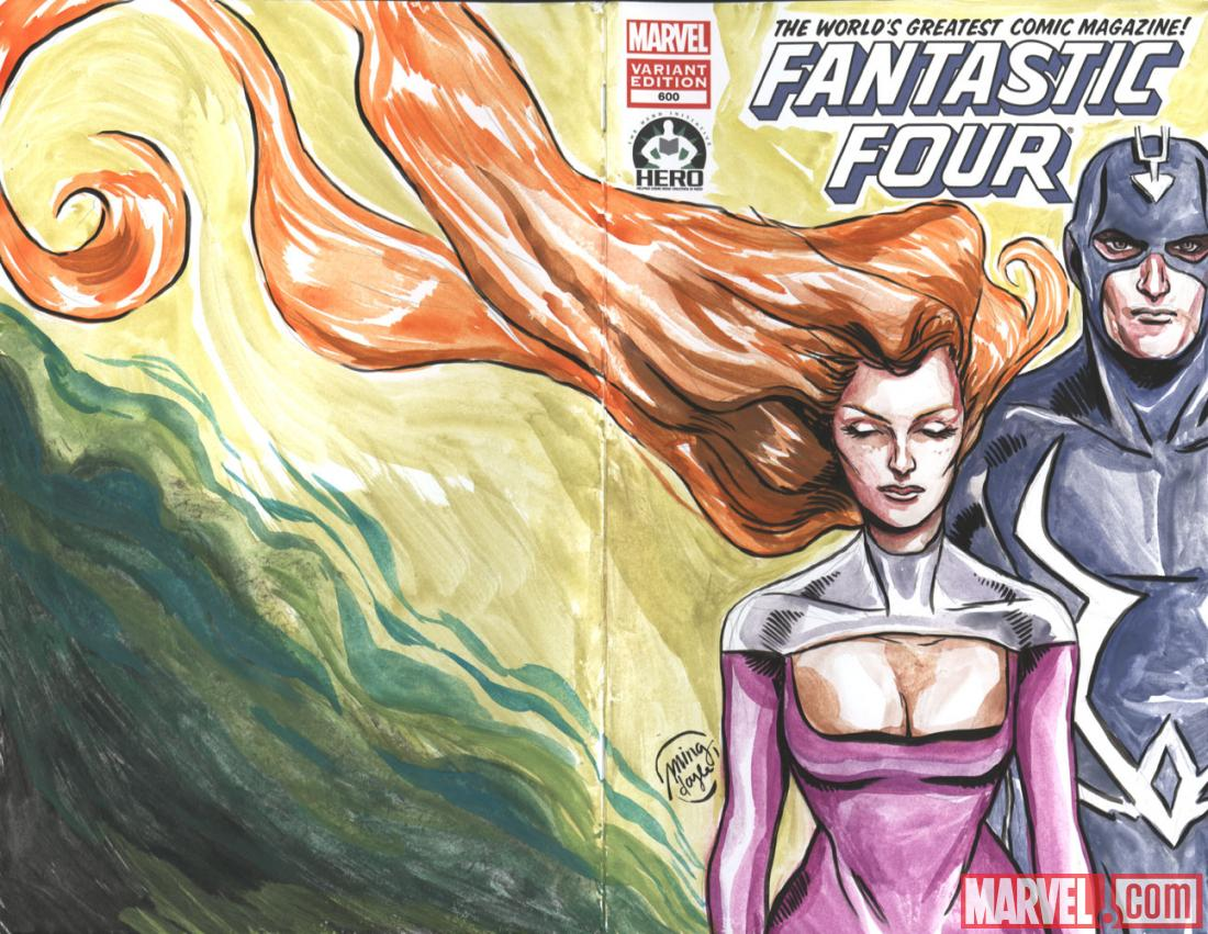 Fantastic Four #600 Hero Initiative variant cover by Ming Doyle