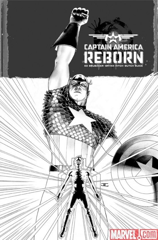 CAPTAIN AMERICA REBORN #1, sketch cover by John Cassaday
