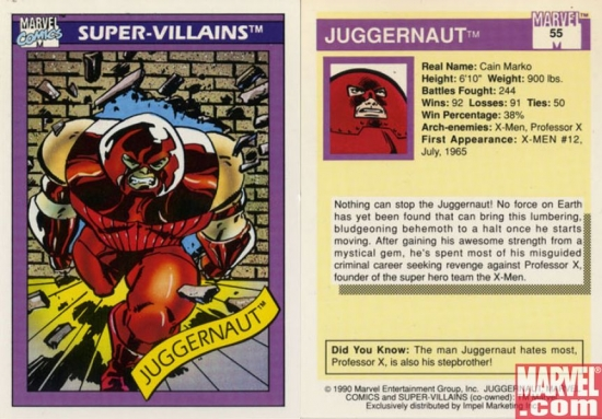 Juggernaut, Card #55