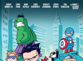 SDCC 2013 Avengers poster homage by Skottie Young