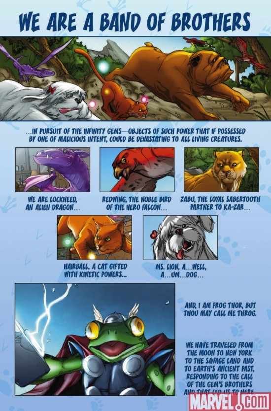 LOCKJAW AND THE PET AVENGERS #3, intro page