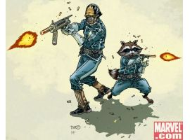 Star-Lord & Rocket Raccoon by Timothy Green III