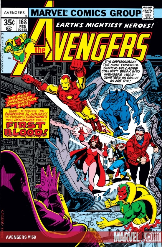 AVENGERS #168 COVER