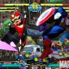 Screenshot of Viewtiful Joe and Captain America from Marvel vs. Capcom 3