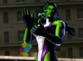 She-Hulk in Marvel vs. Capcom 3