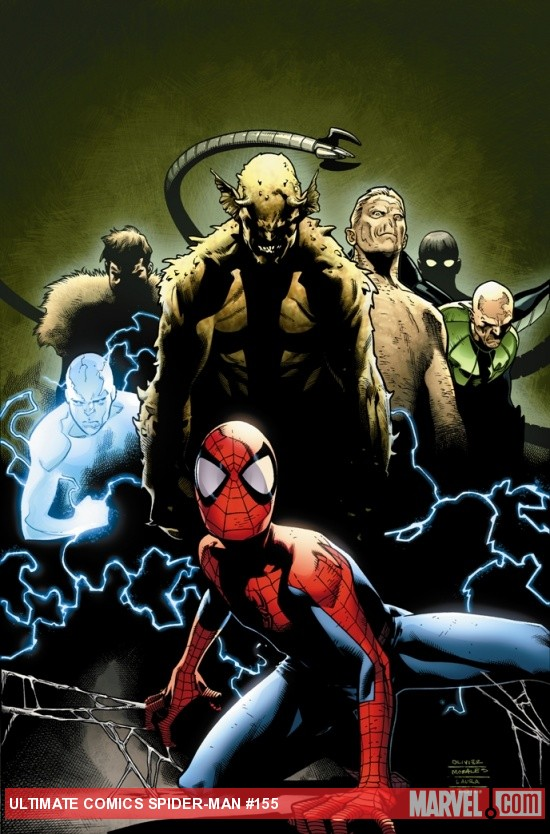 Ultimate Comics Spider-Man #155 cover by Olivier Coipel