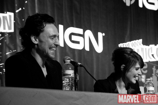 New York Comic Con 2011: Tom Hiddleston & Cobie Smulders at the Marvel's The Avengers Panel