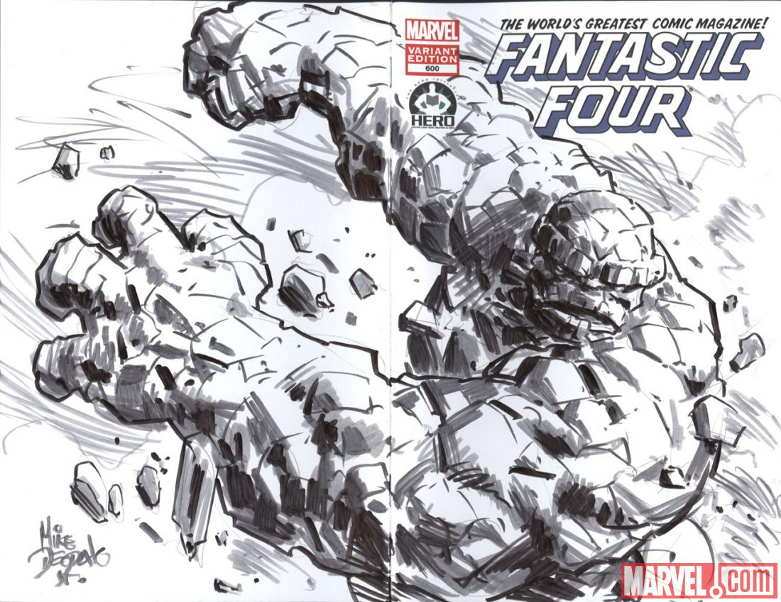Fantastic Four #600 Hero Initiative variant cover by Mike Deodato
