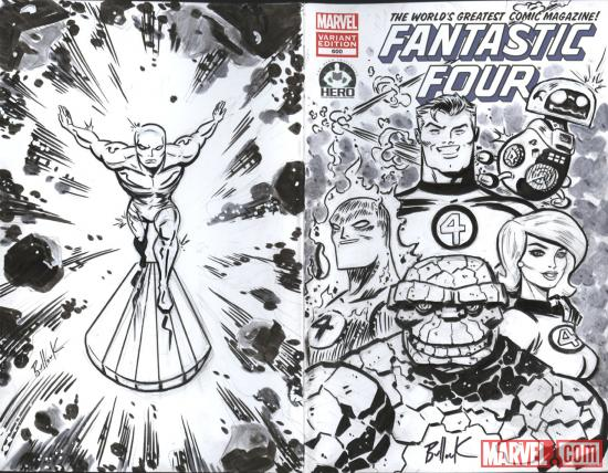 Fantastic Four #600 Hero Initiative variant cover by David Bullock