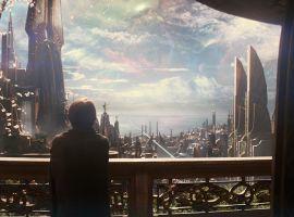 Jane Foster surveys Asgard in Marvel's Thor: The Dark World