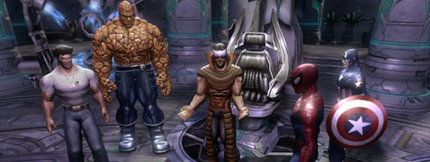 Image Featuring Captain America, Gorgon, Spider-Man, Thing