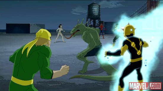 Our heroes face the Lizard in Ultimate Spider-Man Season 2